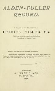 Cover of: Alden-Fuller record by M. Percy Black