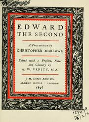Cover of: Edward the Second by Christopher Marlowe