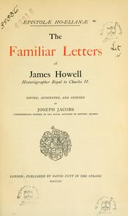 Cover of: Epistolae Ho-Elianae by Howell, James