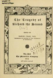 Cover of: Richard II by William Shakespeare