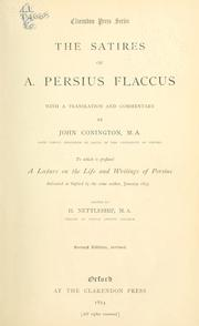 Cover of: Satiræ by Persius.