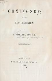 Cover of: Coningsby by Benjamin Disraeli