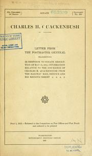 Cover of: Cahrles H. Quackenbush by United States. Post Office Dept.