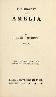 Cover of: Amelia by Henry Fielding
