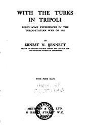 Cover of: With the Turks in Tripoli by Bennett, Ernest Nathaniel Sir