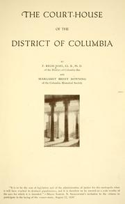Cover of: The court-house of the District of Columbia by Francis Regis Noel