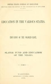 Cover of: Education in the various states by United States. Office of Education.