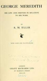 Cover of: George Meredith by S. M. Ellis
