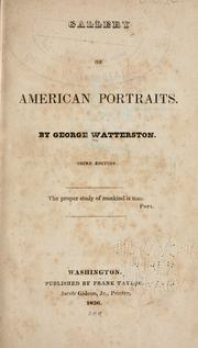Cover of: Gallery of American portraits by George Watterston