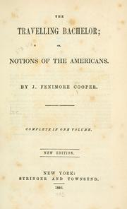 Cover of: Notions of the Americans by James Fenimore Cooper