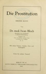 Cover of: Die Prostitution by Iwan Bloch
