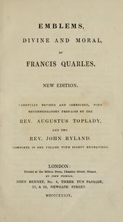 Cover of: Emblemes by Francis Quarles