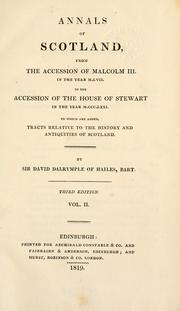 Cover of: Annals of Scotland by Dalrymple, David Sir