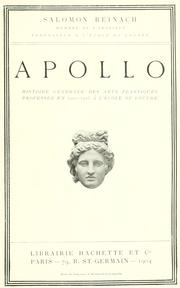 Cover of: Apollo by Salomon, Louis Rev.