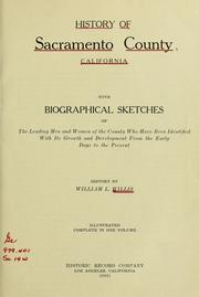 Cover of: History of Sacramento County, California by William Ladd Willis