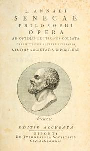 Cover of: Opera quae supersunt by Seneca the Younger