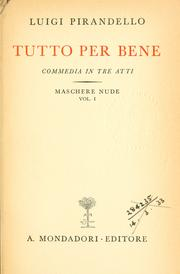 Cover of: Maschere nude by Luigi Pirandello