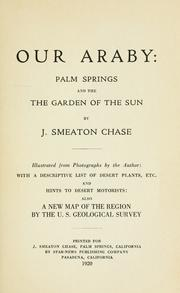 Cover of: Our Araby by J. Smeaton Chase
