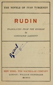 Cover of: Rudin by Ivan Sergeevich Turgenev