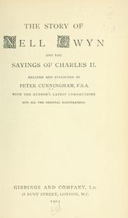 Cover of: The story of Nell Gwyn by Cunningham, Peter