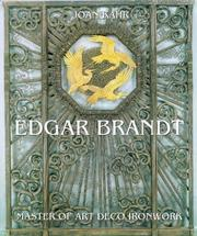 Cover of: Edgar Brandt by Joan Kahr