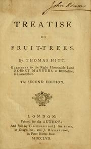 Cover of: A treatise of fruit-trees by Thomas Hitt