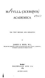 Cover of: Academica by Cicero