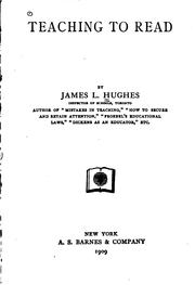 Cover of: Teaching to read by Hughes, James L.