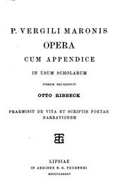 Cover of: P. Vergili Maronis Opera by Publius Vergilius Maro