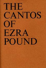 Cover of: Cantos by Ezra Pound