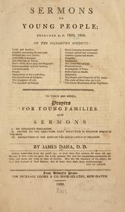 Cover of: Sermons to young people by James Dana