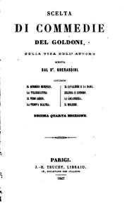 Cover of: Scelta di commedie del Goldoni by Goldoni