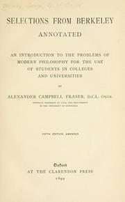Cover of: Selections from Berkeley, annotated by George Berkeley