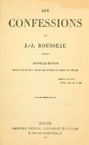 Cover of: Les confessions by Jean-Jacques Rousseau