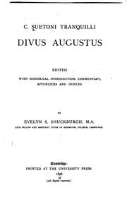 Cover of: Divus Augustus by Suetonius