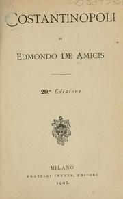 Cover of: Costantinopoli by Edmondo De Amicis