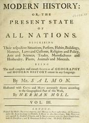 Cover of: Modern history by Salmon, Thomas