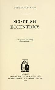 Cover of: Scottish eccentrics by MacDiarmid, Hugh