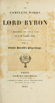 Cover of: Complete works by Lord Byron
