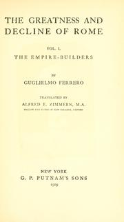 Cover of: Grandezza e decadenza di Roma by Ferrero, Guglielmo