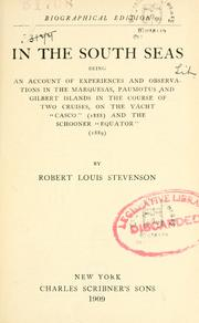 Cover of: In the South Seas by Robert Louis Stevenson