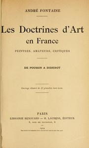 Cover of: Les doctrines d'art en France by André Fontaine