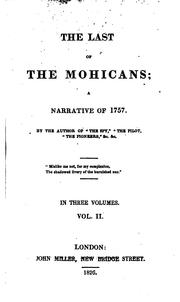 Cover of: The Last of the Mohicans: A Narrative of 1757 by James Fenimore Cooper