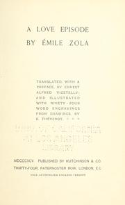Cover of: A love episode by Émile Zola