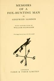 Cover of: Memoirs of a fox-hunting man by Siegfried Sassoon