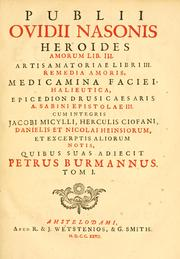 Cover of: Publii Ovidii Nasonis Opera omnia by Ovid