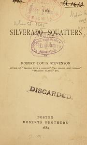 Cover of: The Silverado Squatters by Robert Louis Stevenson