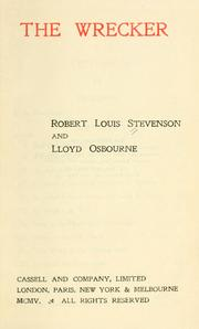 Cover of: The  wrecker by Robert Louis Stevenson