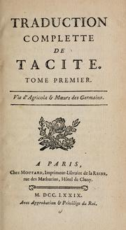 Cover of: Traduction complette de Tacite by P. Cornelius Tacitus