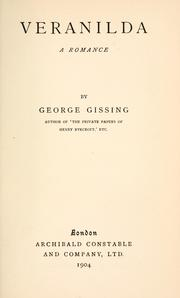 Cover of: Veranilda by George Gissing